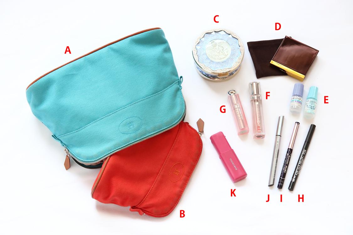 バッグの中身を全部見せ 一条響・財布2コ持ちエルメス尽くし編♥