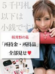 5千円札以下は小銭です!桜井野の花「所持金・所持品」全部見せ♥